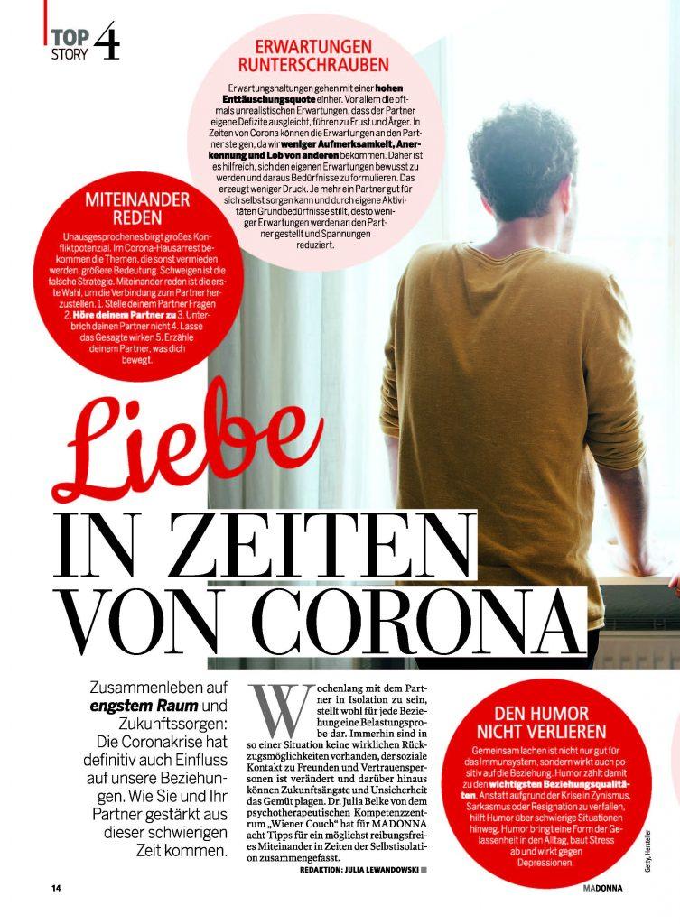 Liebe in Zeiten von Corona
